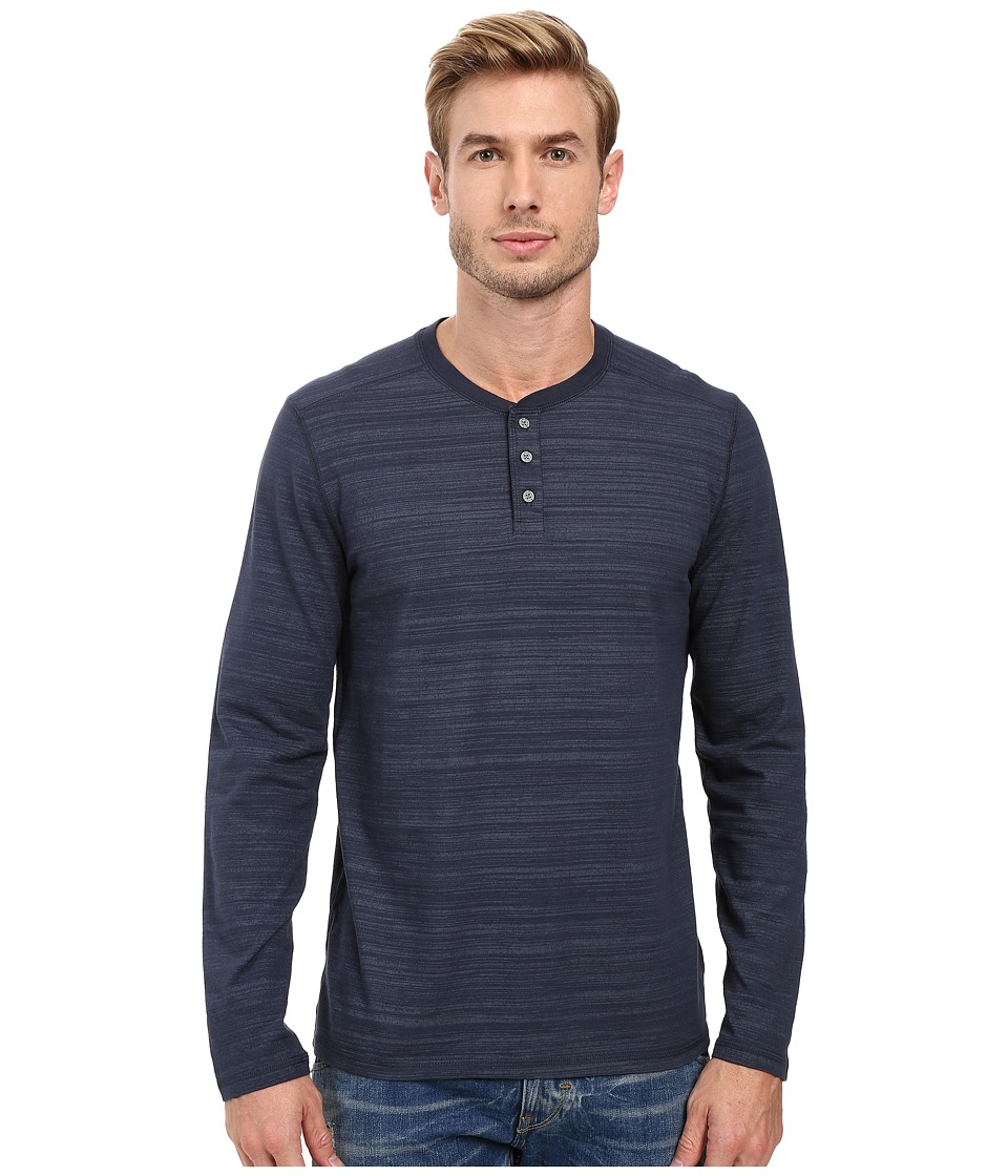 AG Adriano Goldschmied - Remi Long Sleeve Henley (Blue Ridge) Men's Long Sleeve Pullover