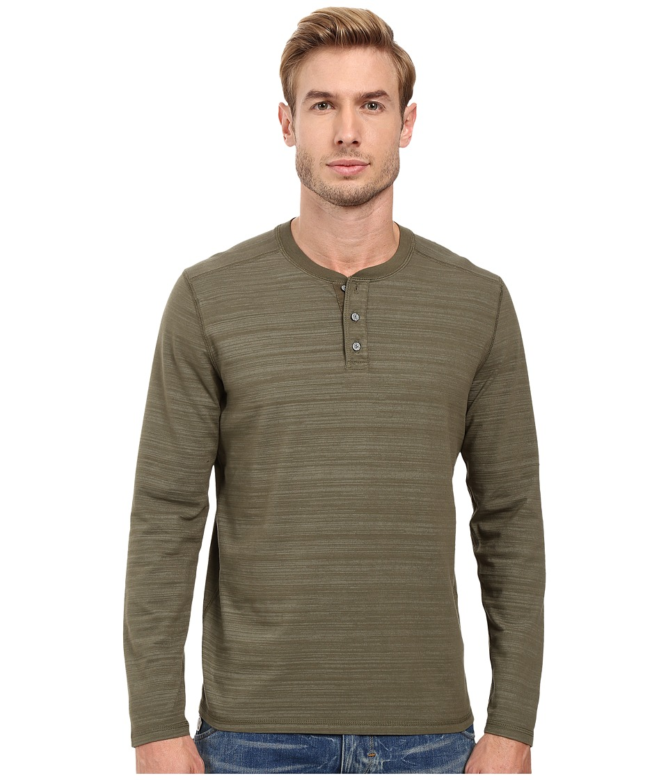 AG Adriano Goldschmied - Remi Long Sleeve Henley (Caper Green) Men's Long Sleeve Pullover