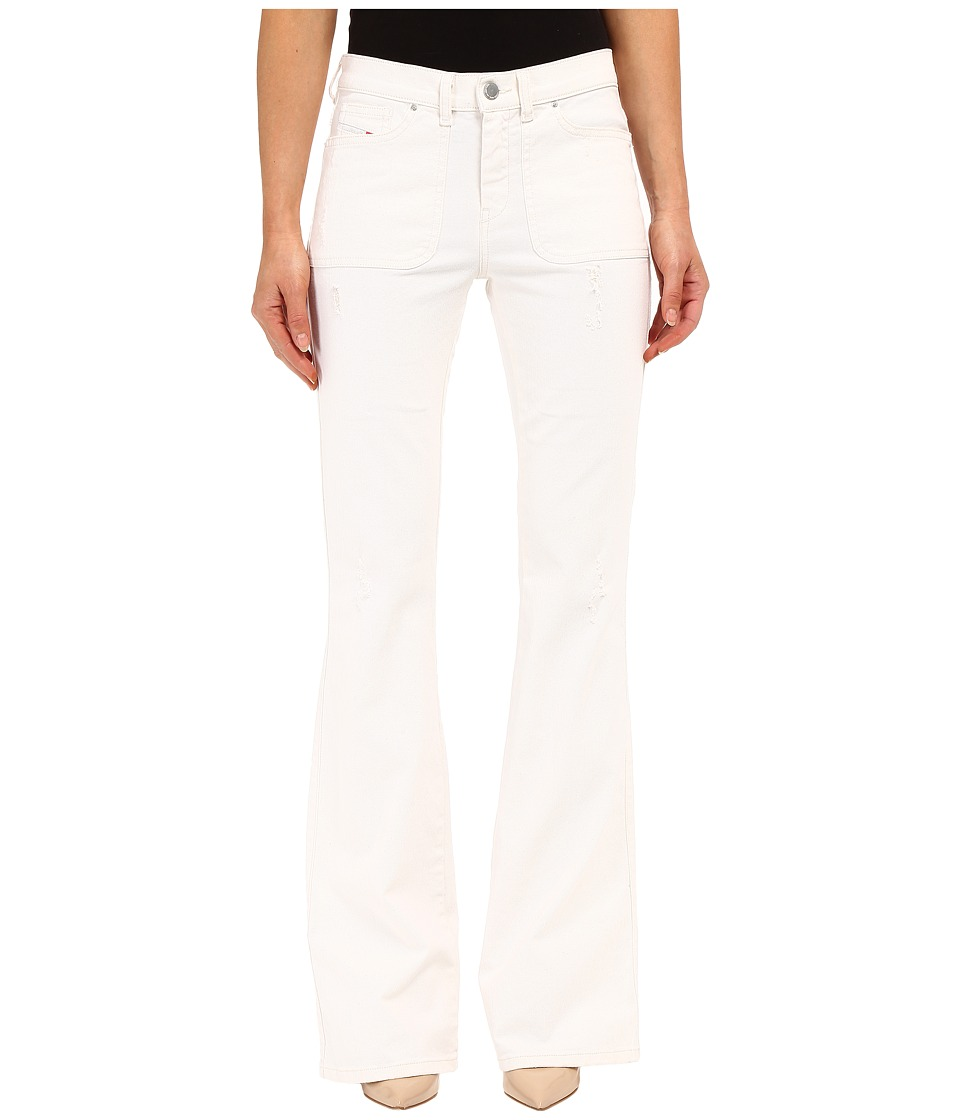 Diesel - Sandyb-Patch Trousers 672Y (White) Women's Jeans