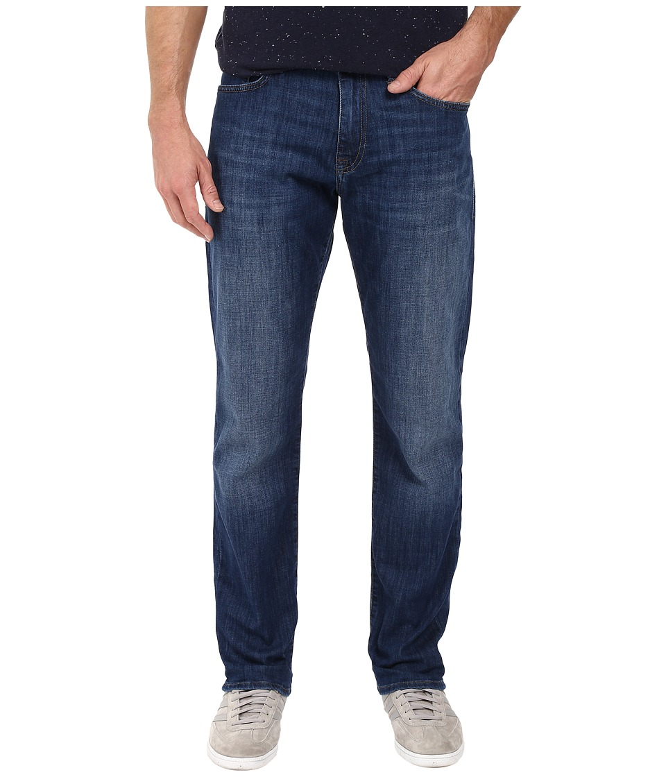 Mavi Jeans Myles Casual Straight in Dark Brushed Portland (Dark Brushed Portland) Men