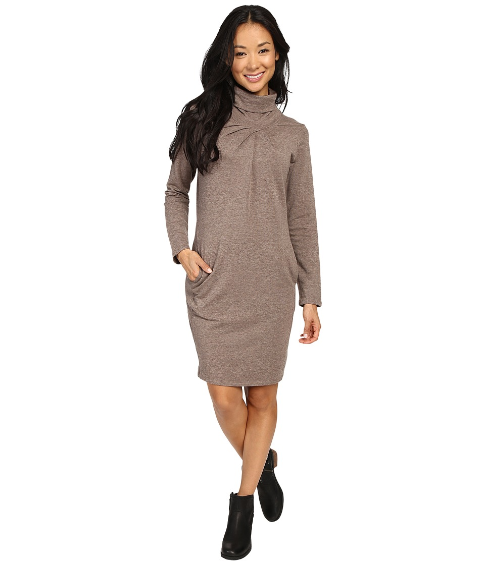 NAU Elementerry Pleat Dress (Mushroom Heather) Women