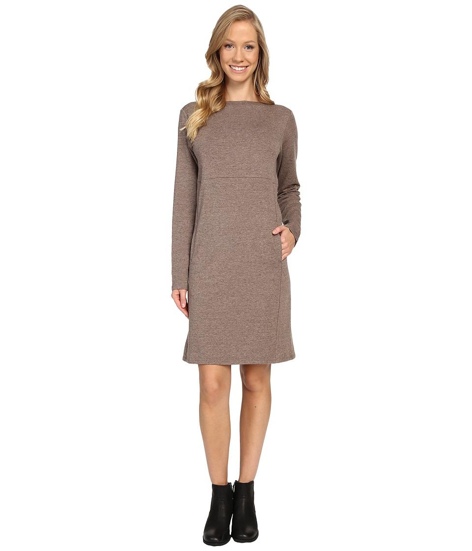 NAU Elementerry Boat Neck Dress (Mushroom Heather) Women