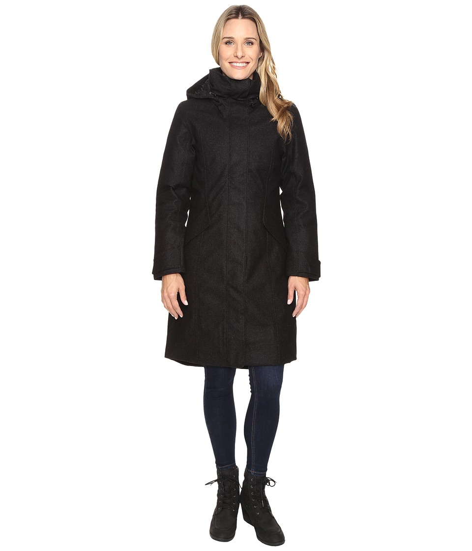 NAU - Prato Wool Down Trench (Caviar Heather) Women's Coat
