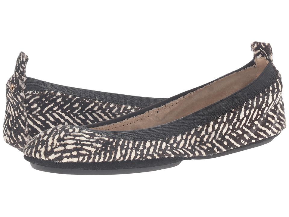 Yosi Samra - Samara Herringbone Haircalf (Black/Whisper White) Women's Shoes