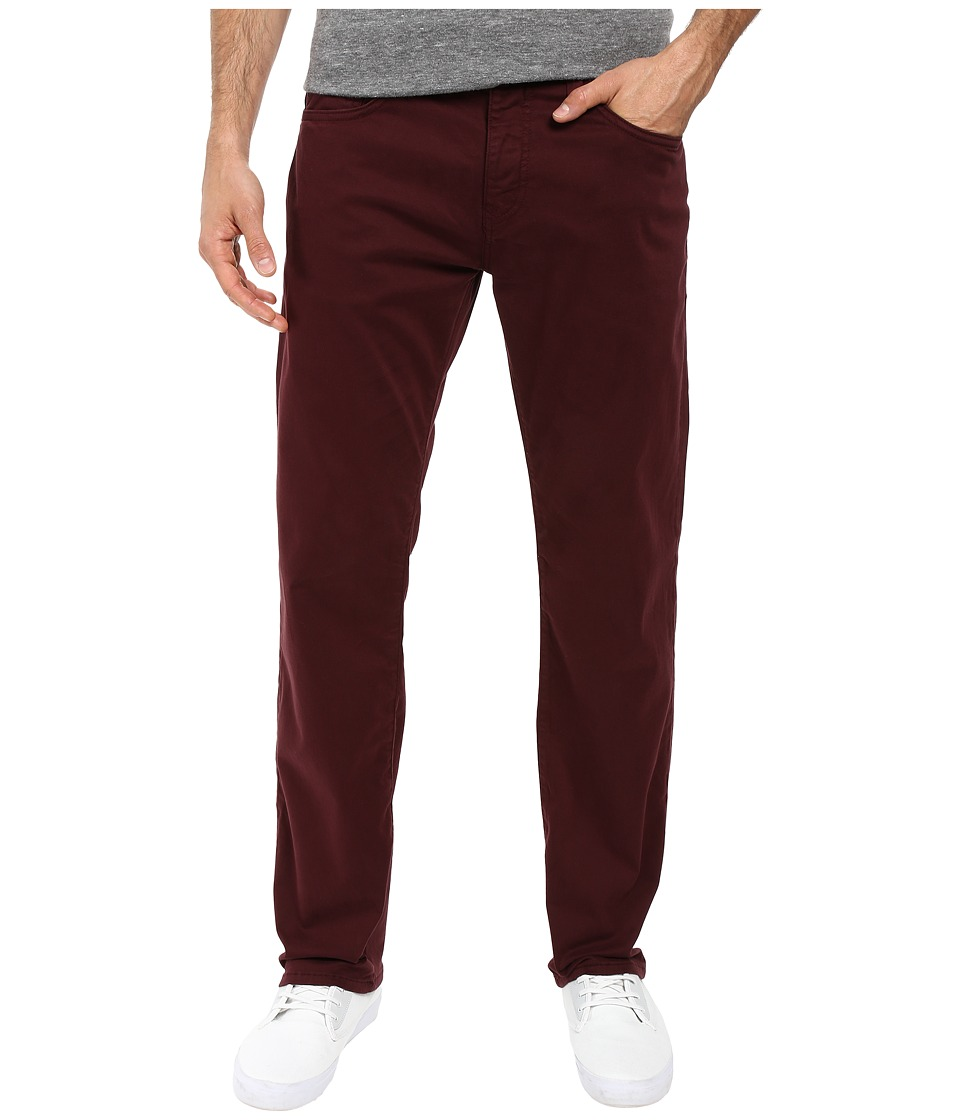 Mavi Jeans Zach Classic Straight Leg in Wine Twill (Wine Twill) Men