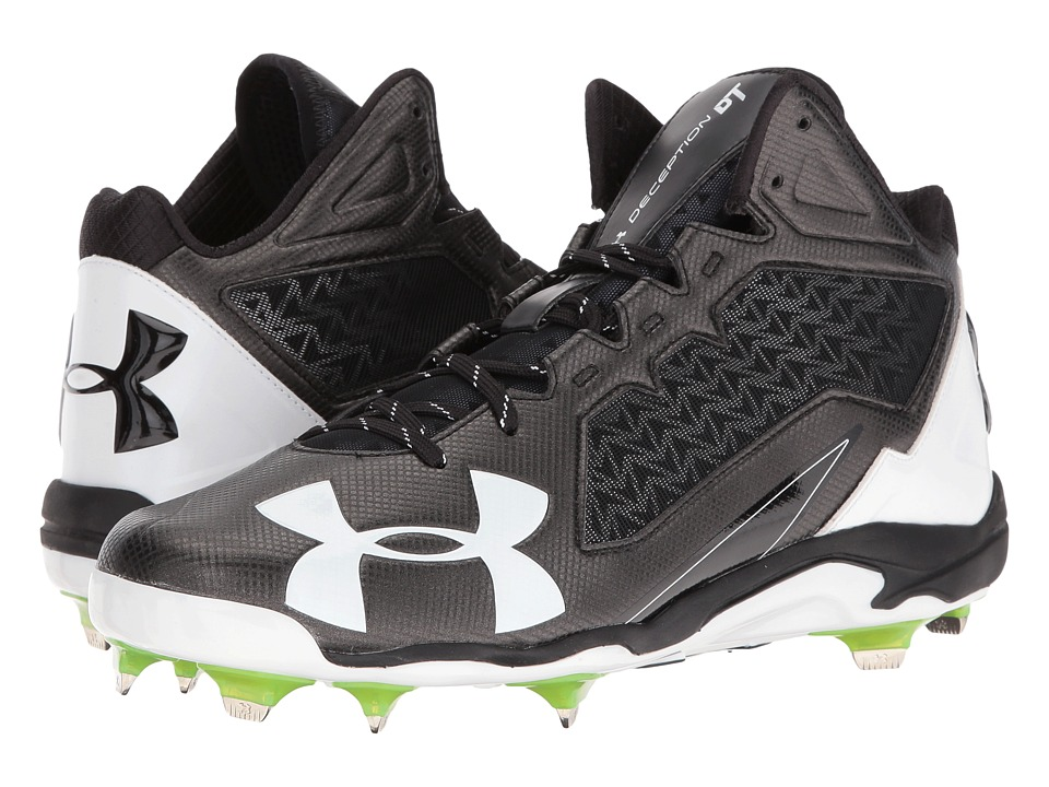 Under Armour - UA Deception Mid DT (Black/White) Men's Cleated Shoes
