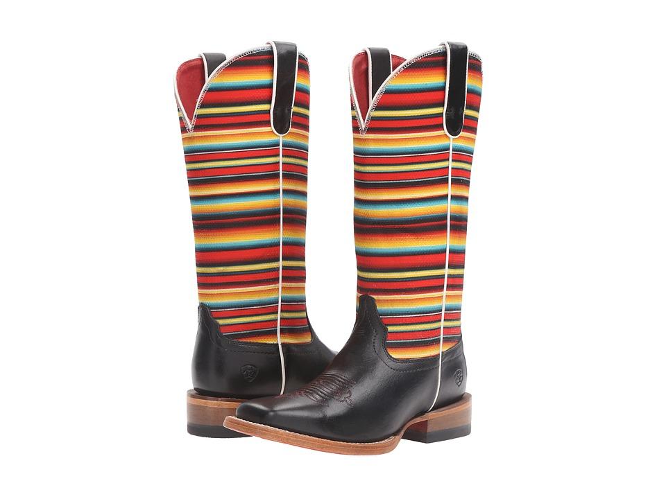 Ariat Gringa (Raven Black/Red Serape) Cowboy Boots