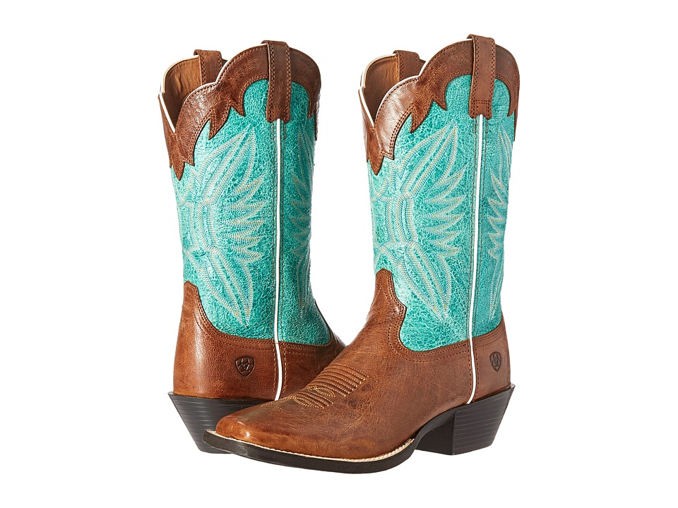 Ariat - Round Up Outfitter (Wood/Latigo Bay) Cowboy Boots