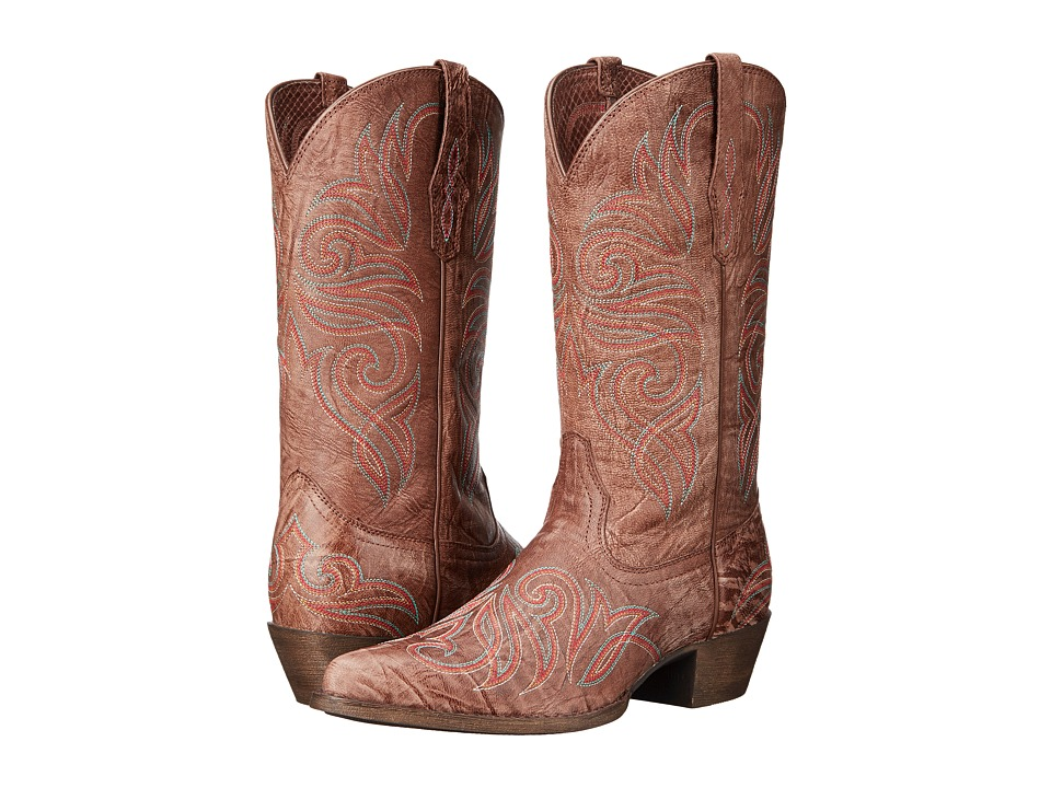 Ariat Round Up J Toe (Burnished Brown) Cowboy Boots