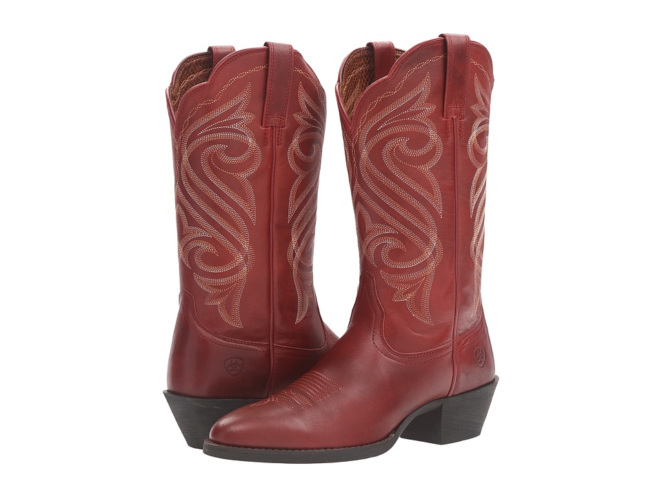 Ariat - Round Up R Toe (Warrior Red) Cowboy Boots