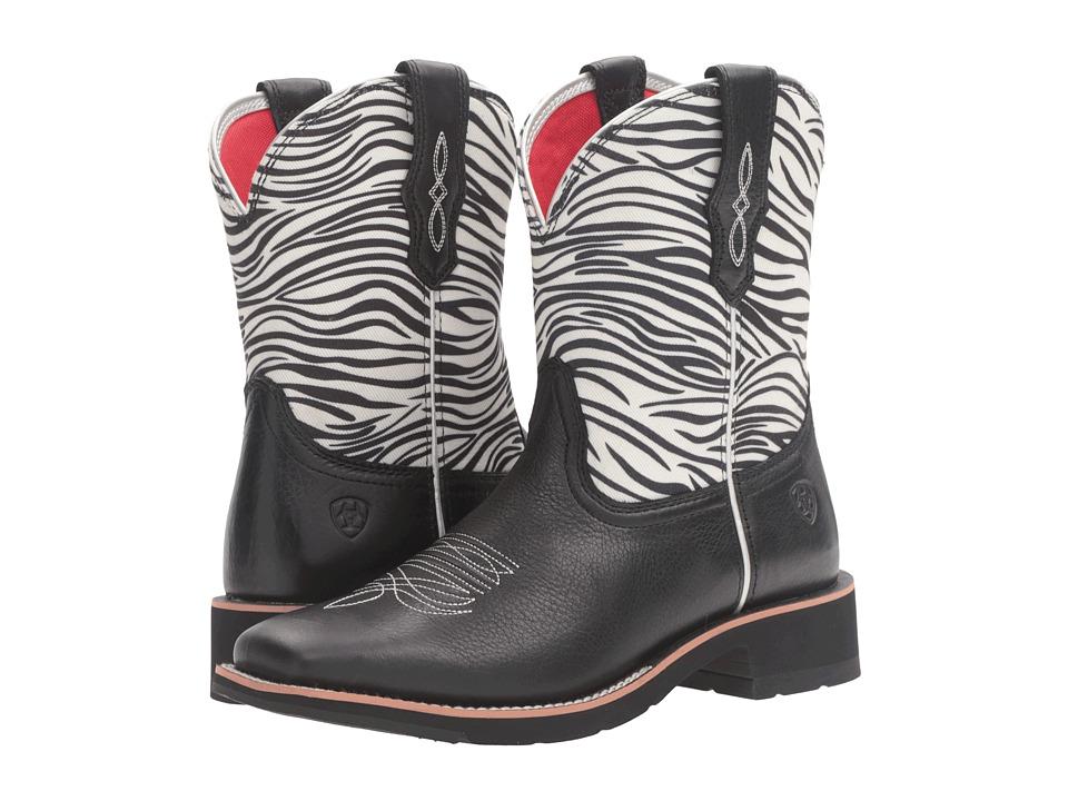 Ariat - Rosie (Zebra Print/Black) Cowboy Boots