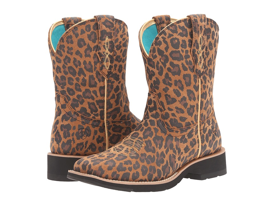 Ariat - Rosie (Tan Leopard Print) Cowboy Boots