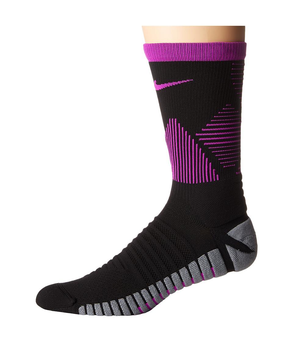 Nike Strike Mercurial Soccer (Black/Hyper Violet/Hyper Violet) Crew Cut Socks Shoes