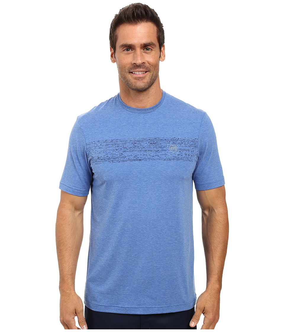 TravisMathew - Harlan (Heather Nautical Blue) Men's Short Sleeve Knit