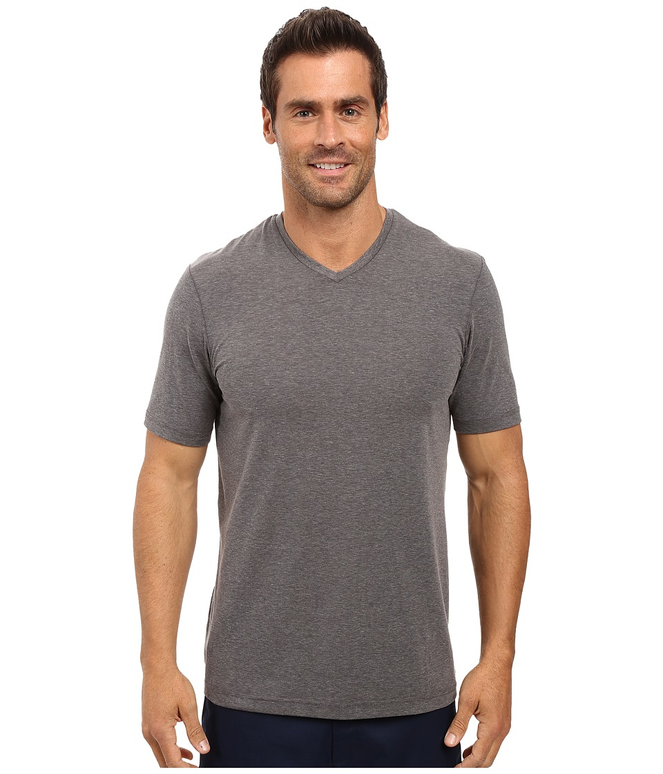 TravisMathew - Uncle Bob 2.0 (Heather Magnet) Men's Short Sleeve Knit