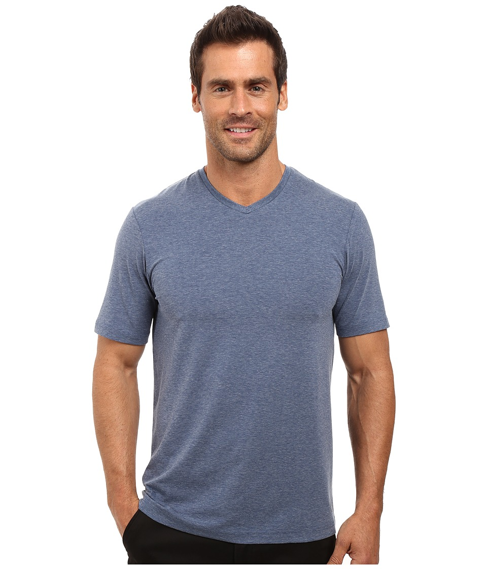 TravisMathew - Uncle Bob 2.0 (Heather Dark Denum) Men's Short Sleeve Knit