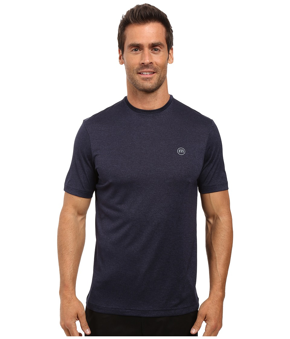 TravisMathew - The HG (Heather Dark Denum) Men's Short Sleeve Knit