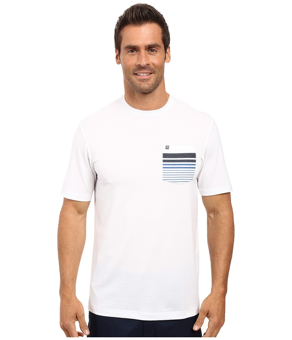 TravisMathew - Marston (White) Men's Short Sleeve Knit