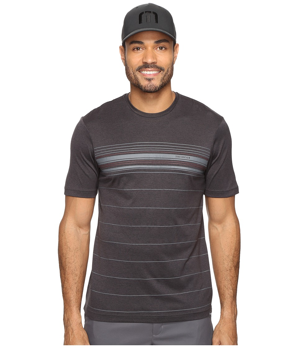TravisMathew - Eastwick (Heather Magnet) Men's Short Sleeve Knit