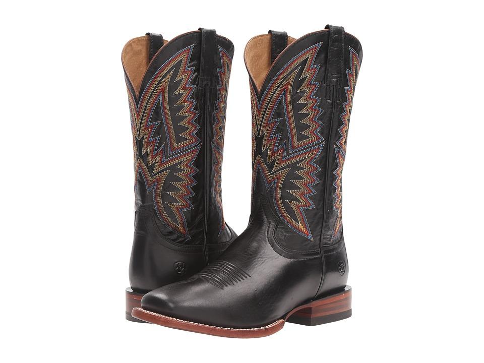 Ariat - Hesston (Midnight Black/Black) Cowboy Boots