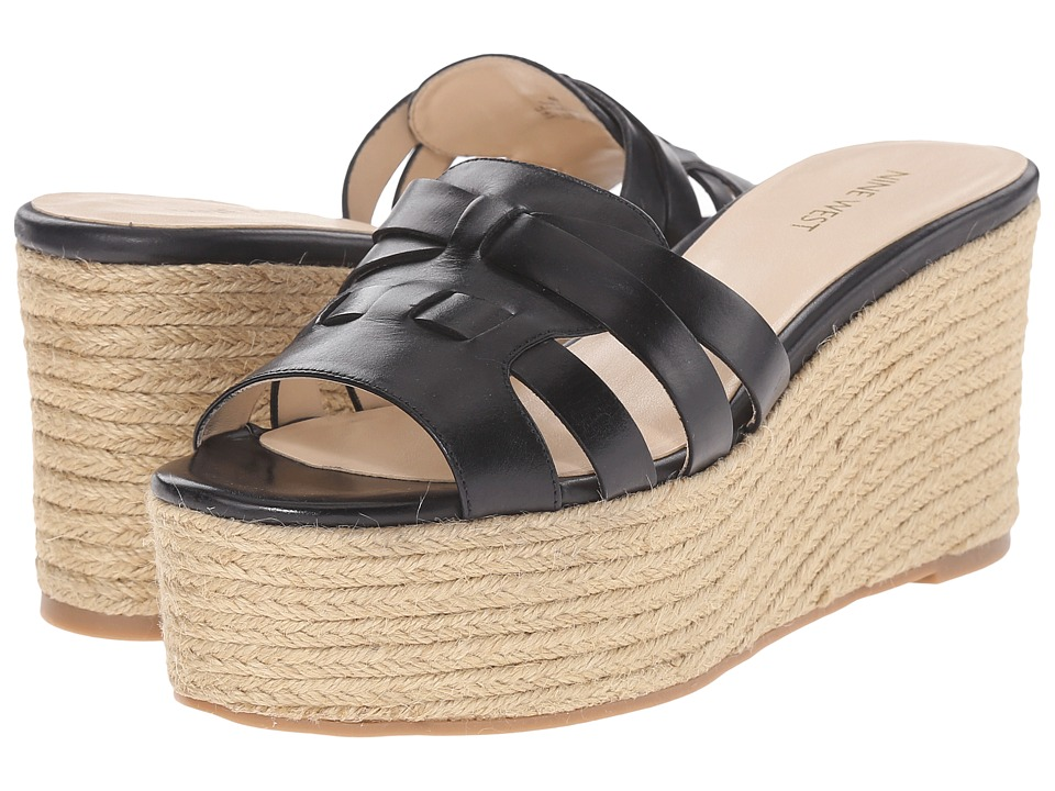 Nine West - Eleena (Black Leather) Women's Sandals