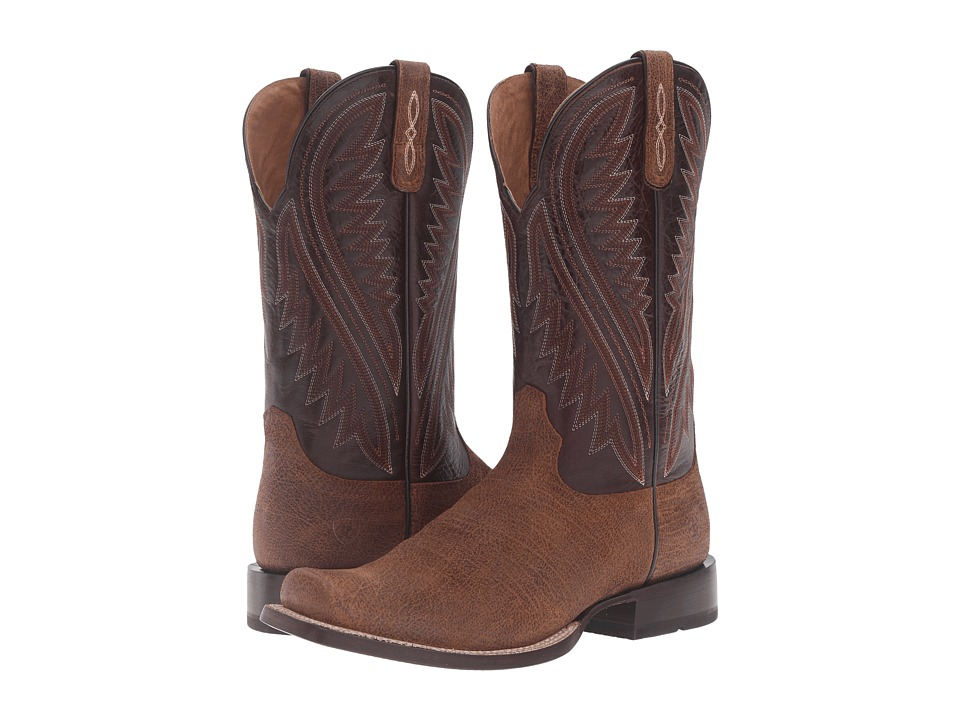 Ariat - Hoolihan (Tan Oil Gaucho/Bitter Chocolate) Cowboy Boots