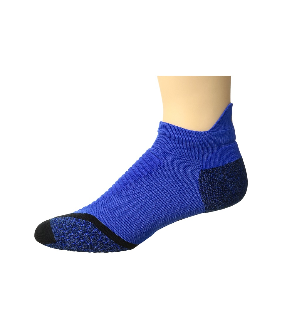 Nike Elite Running Cushion No Show Tab (Hyper Cobalt/Black/Reflective Silver) No Show Socks Shoes