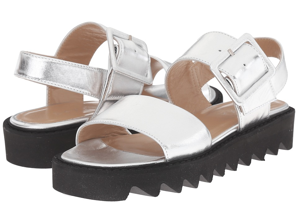 ASKA - Ellis (Silver Smooth) Women's Sandals