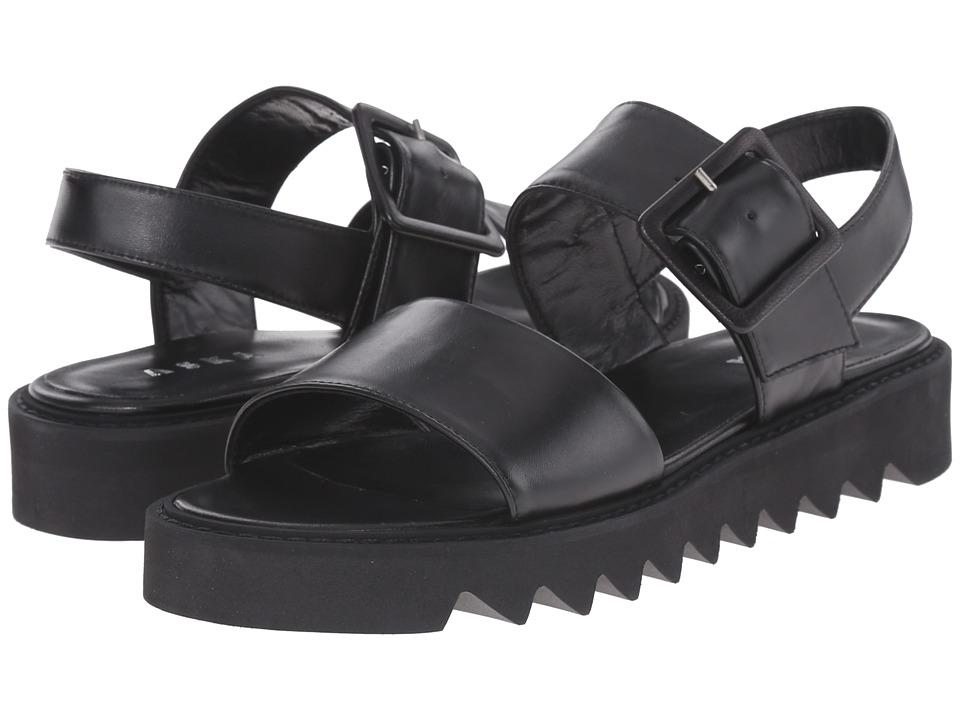 ASKA - Ellis (Black Smooth) Women's Sandals