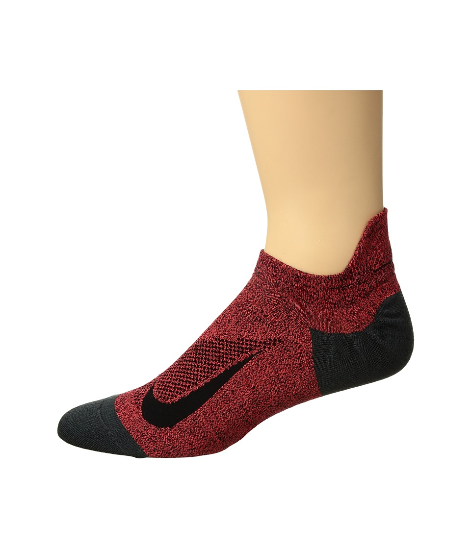 Nike Elite Merino Lightweight No Show Running Sock (Bright Crimson/Black/Black) No Show Socks Shoes