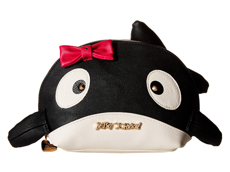Betsey Johnson - Kitsch Whale Cosmetic (Black) Cosmetic Case