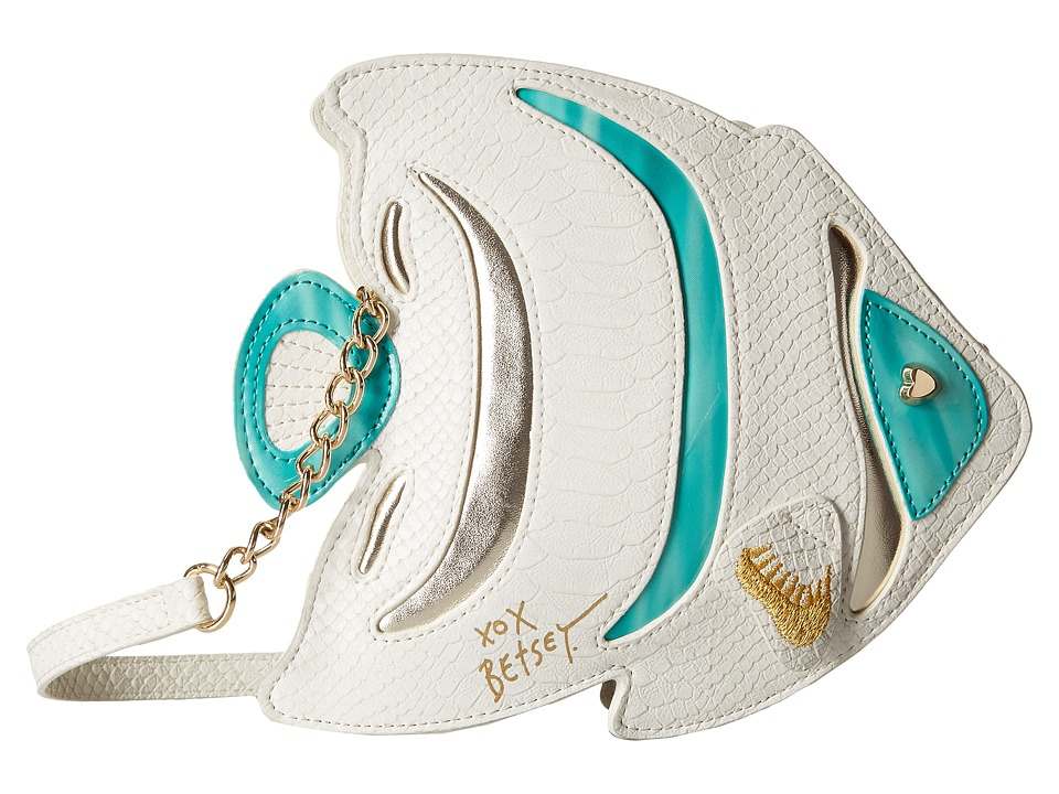 Betsey Johnson - Kitsch Fish Crossbody (White) Cross Body Handbags