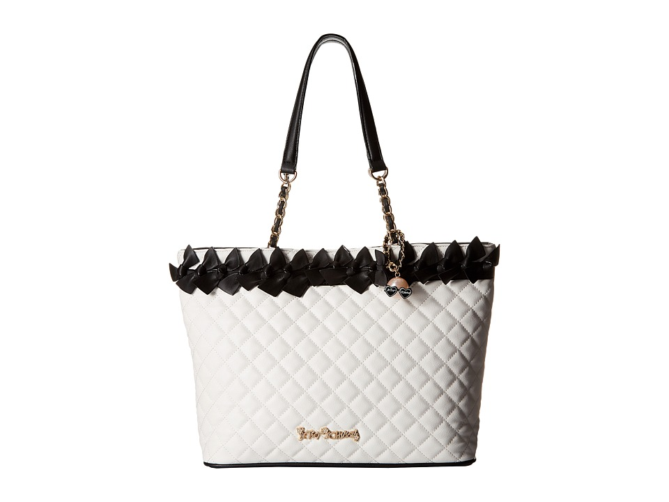 Betsey Johnson - Family Ties Tote (Black/White) Tote Handbags