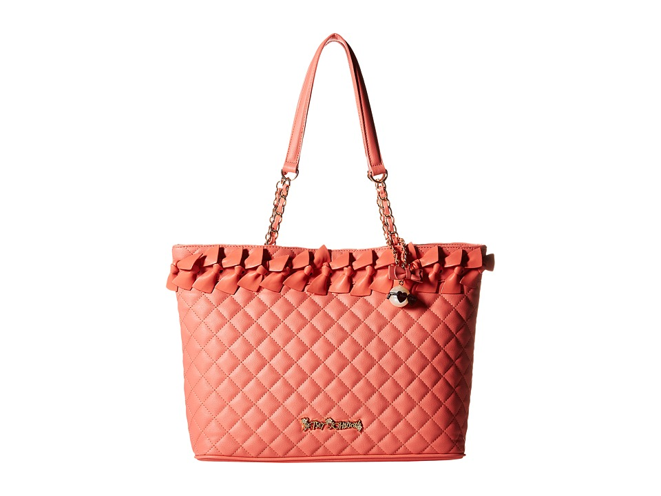 Betsey Johnson - Family Ties Tote (Coral) Tote Handbags
