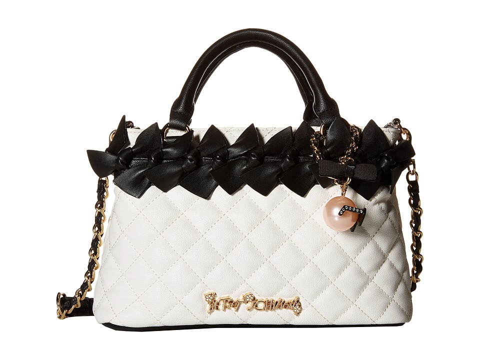 Betsey Johnson - Family Ties Mini Satchel (Black/White) Satchel Handbags