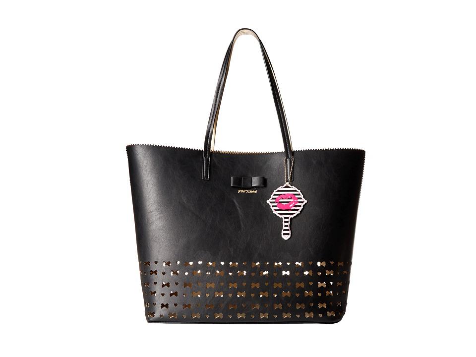 Betsey Johnson - Laser Tag Tote (Black) Tote Handbags