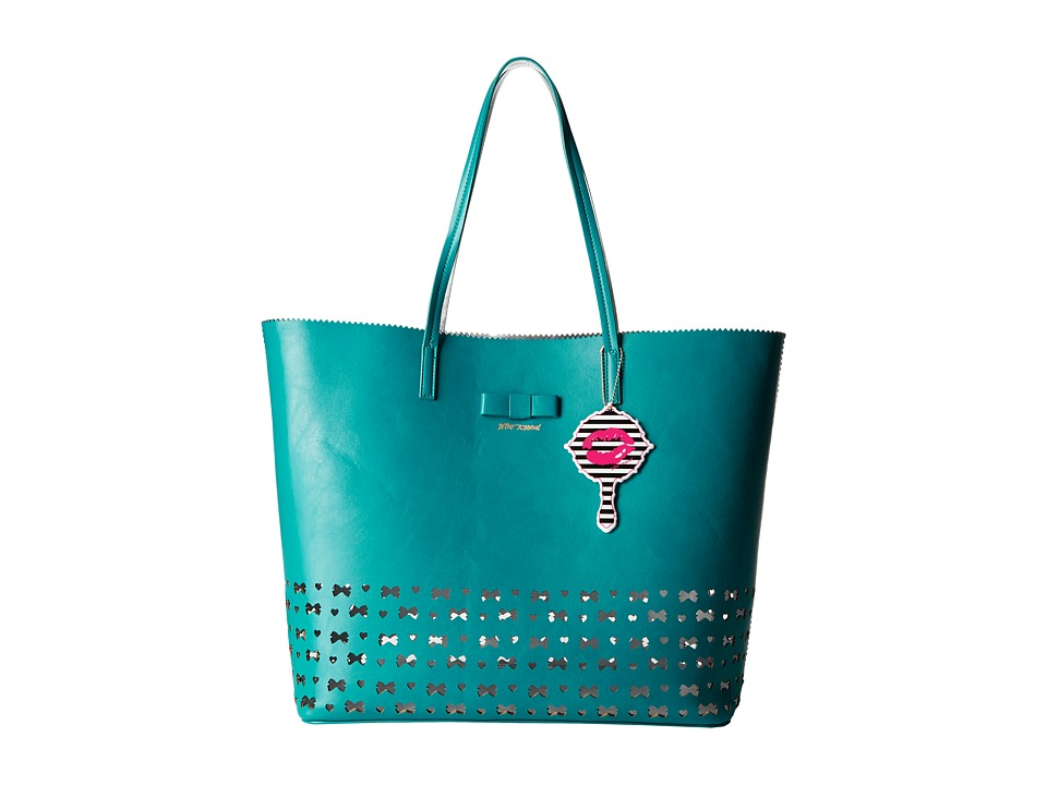 Betsey Johnson - Laser Tag Tote (Turquoise) Tote Handbags