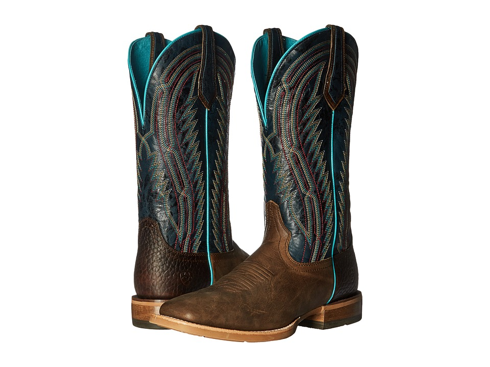 Ariat - Chute Boss (Branding Iron Brown/Estate Blue) Cowboy Boots