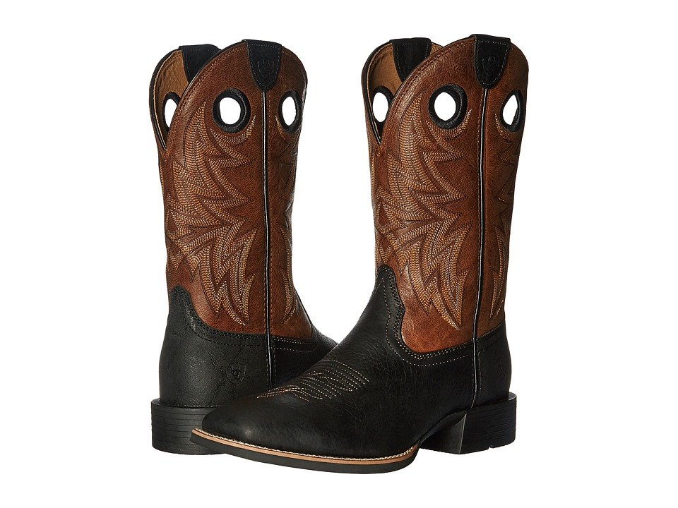Ariat - Heritage Cowhorse (Moonless Night/Wood) Cowboy Boots