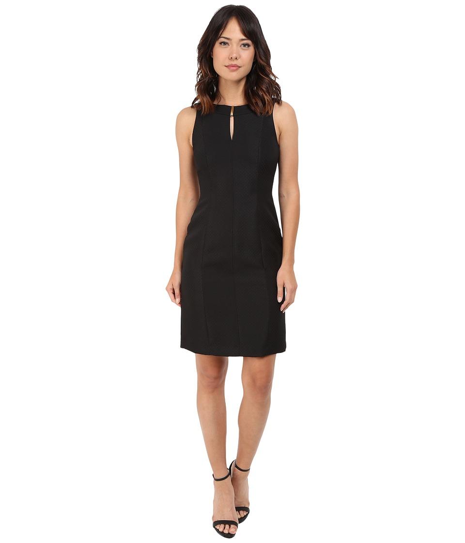 Tahari by ASL - Keyhole Neck Sheath Dress (Black) Women's Dress