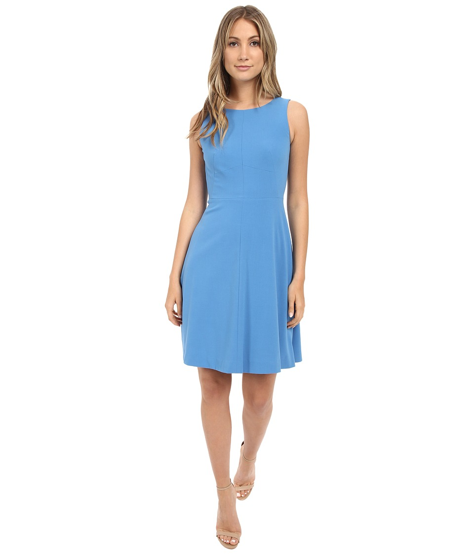 Tahari by ASL - Sleeveless Seamed Bodice A-Line Dress (Sky) Women's Dress