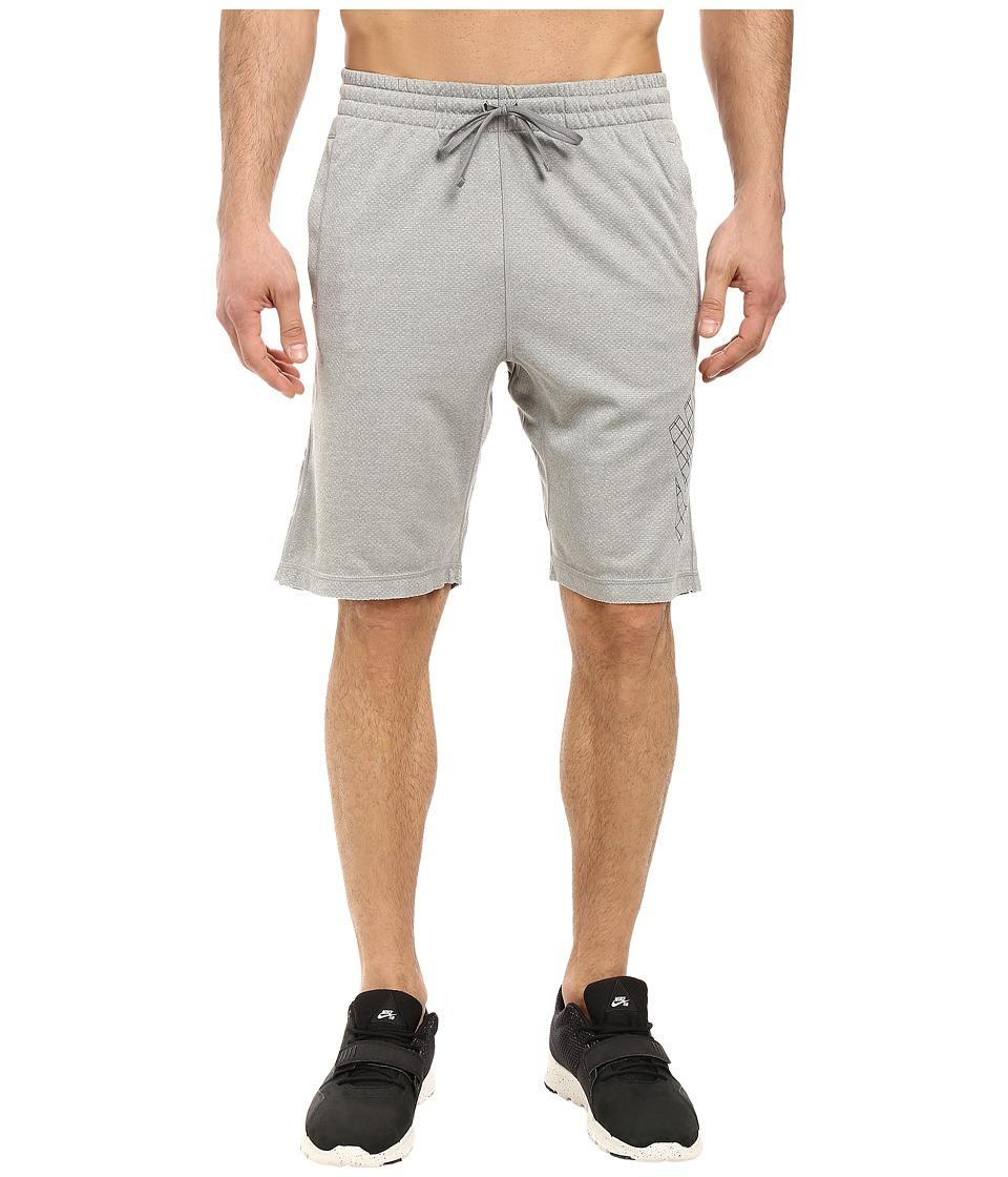 Nike SB - SB Dri-FIT Grid Sunday Shorts (Dark Grey Heather/Black) Men's Shorts
