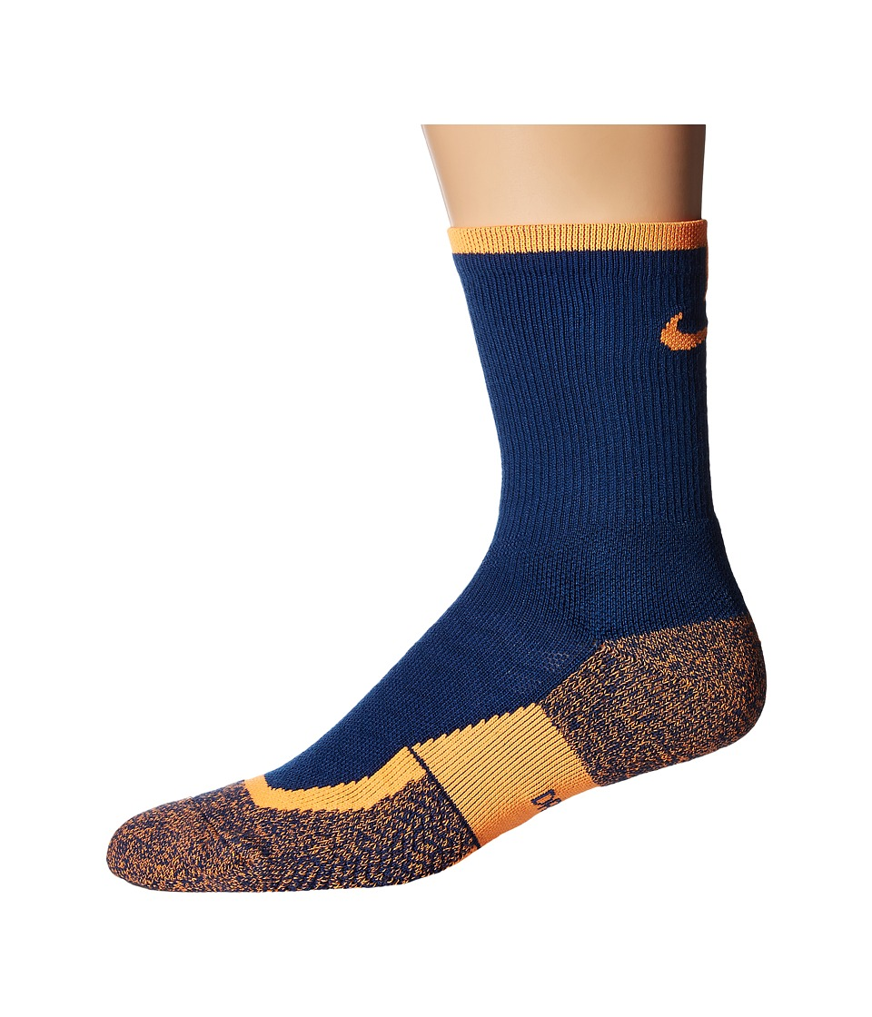 Nike - Elite Tennis Crew (Coastal Blue/Coastal Blue/Bright Crimson) Crew Cut Socks Shoes