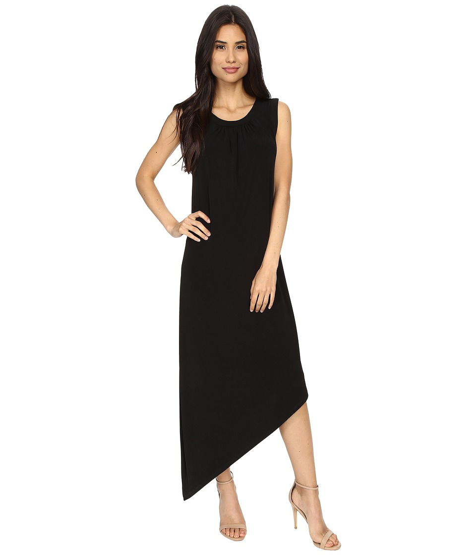 London Times - Sleeveless Asymmetrical (Black) Women's Dress