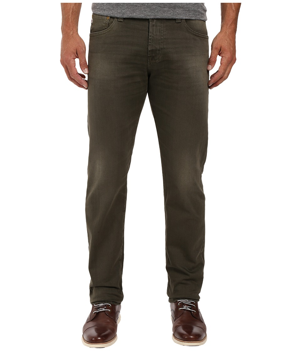 AG Adriano Goldschmied - Matchbox Slim Straight in 2 Years Army Green (2 Years Army Green) Men's Casual Pants