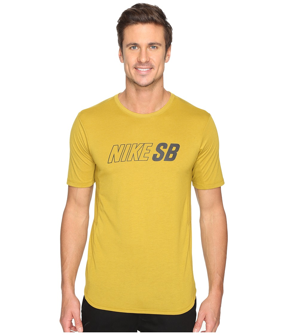Nike SB - SB Skyline Dri-FIT Cool GFX Short Sleeve Shirt (Peat Moss/Peat Moss/Black) Men's Short Sleeve Pullover