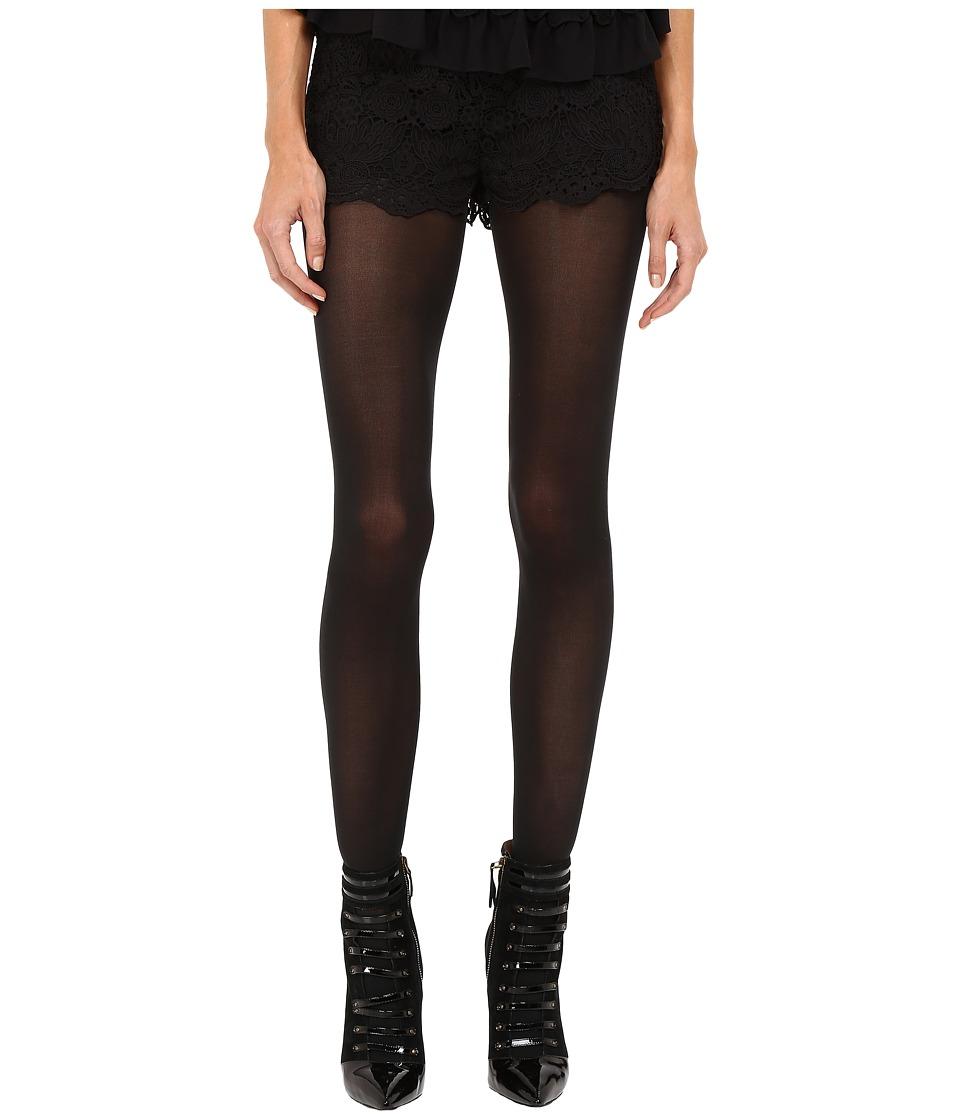 RED VALENTINO - All Over Macrame Shorts (Black) Women's Shorts