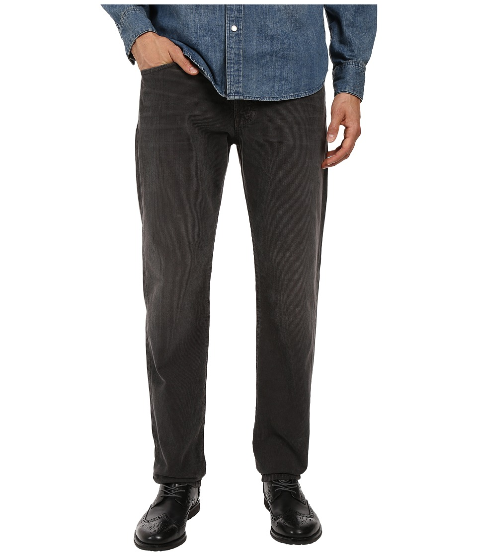 AG Adriano Goldschmied - Graduate Tailored Leg Corduroy Pants in Sulfur Dark Rock (Sulfur Dark Rock) Men's Casual Pants