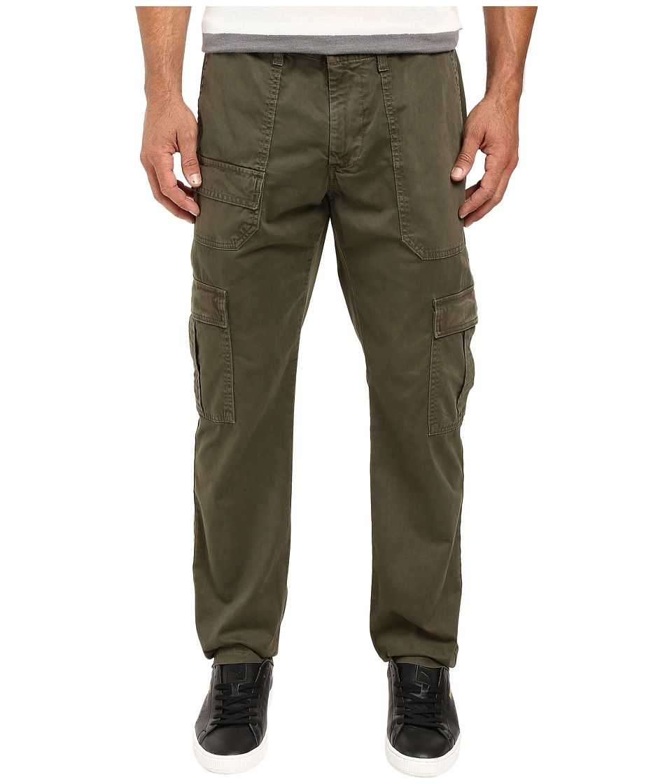 AG Adriano Goldschmied - Scout Modern Cargo in Sulfur Army Green (Sulfur Army Green) Men's Casual Pants