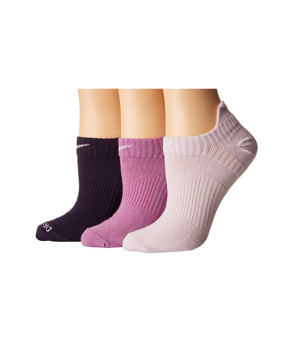 Nike - Dri-Fit Lightweight No Show 3-Pair Pack (Multicolor 5) Women's No Show Socks Shoes
